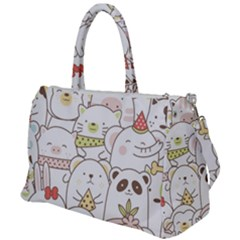 Cute-baby-animals-seamless-pattern Duffel Travel Bag by Sobalvarro