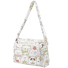 Cute-baby-animals-seamless-pattern Front Pocket Crossbody Bag by Sobalvarro