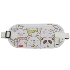 Cute-baby-animals-seamless-pattern Rounded Waist Pouch by Sobalvarro