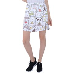 Cute-baby-animals-seamless-pattern Tennis Skirt by Sobalvarro