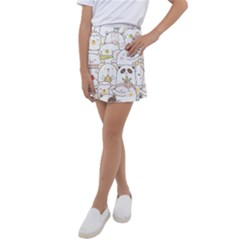 Cute-baby-animals-seamless-pattern Kids  Tennis Skirt by Sobalvarro