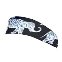 Elephant-pattern-background Stretchable Headband by Sobalvarro