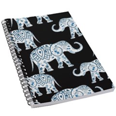 Elephant-pattern-background 5 5  X 8 5  Notebook by Sobalvarro