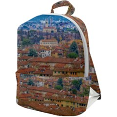 Lucca Historic Center Aerial View Zip Up Backpack