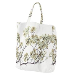 Photo Illustration Flower Over White Background Giant Grocery Tote by dflcprintsclothing