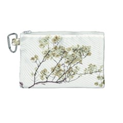 Photo Illustration Flower Over White Background Canvas Cosmetic Bag (medium) by dflcprintsclothing