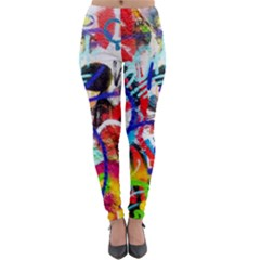 Crazy Grafitti Lightweight Velour Leggings