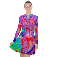 Crazy Graffiti Long Sleeve Panel Dress