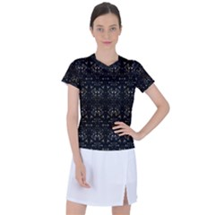 Fancy Ethnic Print Women s Sports Top