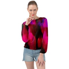 Passion Banded Bottom Chiffon Top
