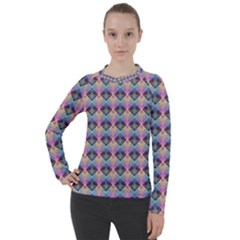 Pink And Blue Women s Pique Long Sleeve Tee