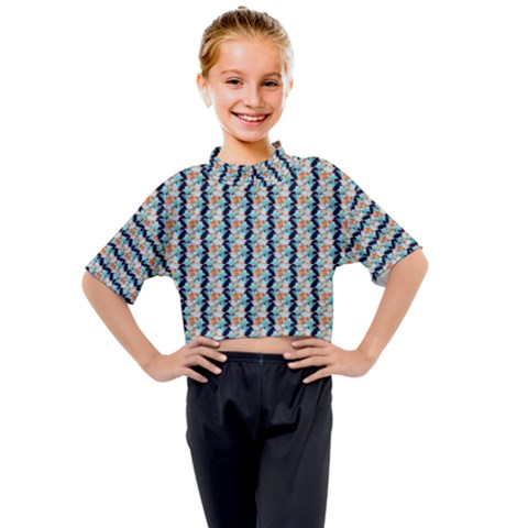 Geometry Colors Kids Mock Neck Tee by Sparkle