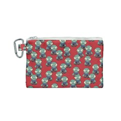 Zombie Virus Canvas Cosmetic Bag (small)