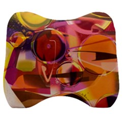Fractured Colours Velour Head Support Cushion
