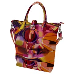 Fractured Colours Buckle Top Tote Bag