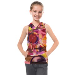 Fractured Colours Kids  Sleeveless Hoodie
