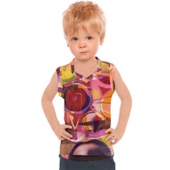 Fractured Colours Kids  Sport Tank Top