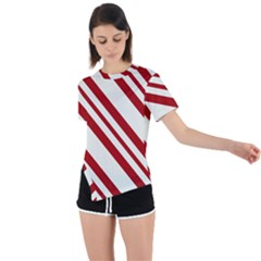 Candycaneb Asymmetrical Short Sleeve Sports Tee