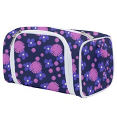 Pink And Blue Flowers Toiletries Pouch