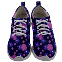 Pink And Blue Flowers Mens Athletic Shoes by bloomingvinedesign