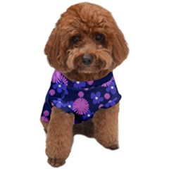 Pink And Blue Flowers Dog T-shirt by bloomingvinedesign