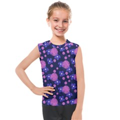 Pink And Blue Flowers Kids  Mesh Tank Top by bloomingvinedesign