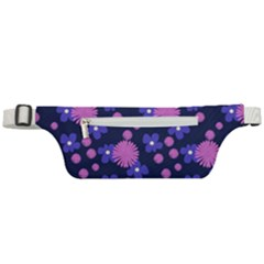 Pink And Blue Flowers Active Waist Bag