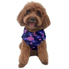 Pink And Blue Flowers Dog Sweater