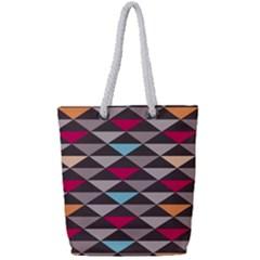 Zappwaits Canuma Full Print Rope Handle Tote (small) by zappwaits