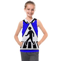 Cross Crossing Crosswalk Line Walk Kids  Sleeveless Hoodie by HermanTelo