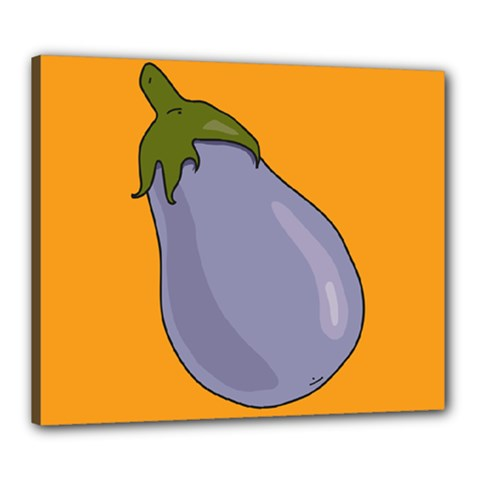 Eggplant Fresh Health Canvas 24  X 20  (stretched) by Mariart