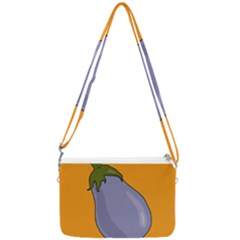 Eggplant Fresh Health Double Gusset Crossbody Bag