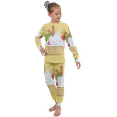 Ice Cream Dessert Summer Kids  Long Sleeve Set
