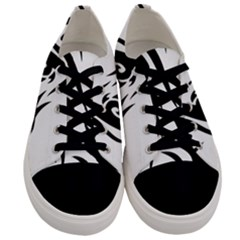Black Dragon Animal Men s Low Top Canvas Sneakers
