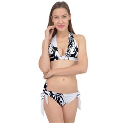 Black Dragon Animal Tie It Up Bikini Set