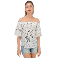 Hands Reference Art Drawing Off Shoulder Short Sleeve Top