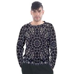 Modern Baroque Print Men s Long Sleeve Raglan Tee