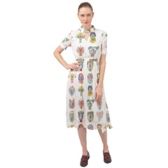Female Reproductive System  Keyhole Neckline Chiffon Dress