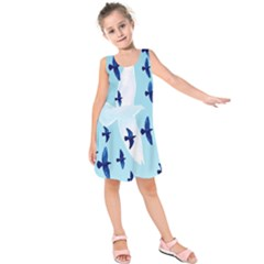 Illustrations Birds Flying Kids  Sleeveless Dress