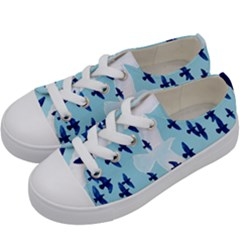 Illustrations Birds Flying Kids  Low Top Canvas Sneakers by HermanTelo