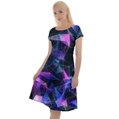 Abstract Atom Background Classic Short Sleeve Dress