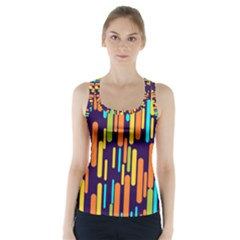 Illustration Abstract Line Racer Back Sports Top by Alisyart