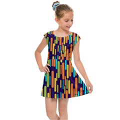 Illustration Abstract Line Kids  Cap Sleeve Dress by Alisyart
