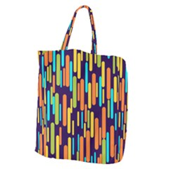 Illustration Abstract Line Giant Grocery Tote by Alisyart