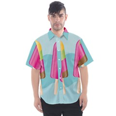 Ice Cream Parlour Men s Short Sleeve Shirt