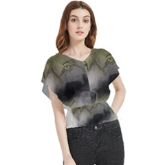 Wolf Evil Monster Butterfly Chiffon Blouse