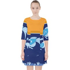 Fish Water Fisherman Pocket Dress
