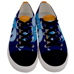 Fish Water Fisherman Men s Low Top Canvas Sneakers