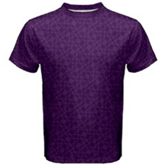 Simple Purple And White Pattern Abstract Geometric Men s Cotton Tee