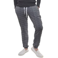 Black And White Triangles Men s Jogger Sweatpants